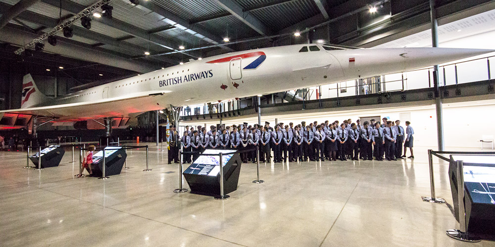 Local Air Cadets under Concorde Alpha Foxtrot