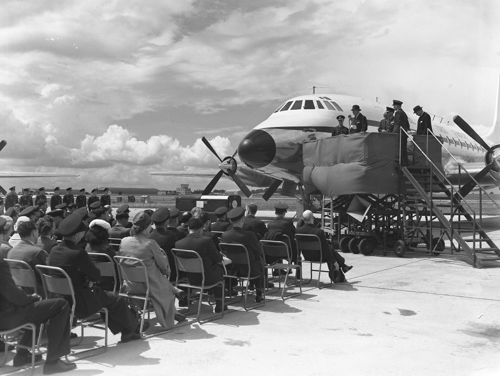 4 June 1959 - The first Bristol Britannia 253/C Mk 1 was delivered to RAF Transport Command for Nos. 99 and 511 Squadrons.Credit: BAE Systems