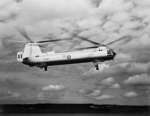 5 July 1959 - Type 192 Bristol Belvedere twin rotor helicopter made its first flight at Weston-Super-Mare. The first production Belvedere HC1 was delivered subsequently to the RAF for No. 6 Sqn at Odiham in August 1961. By then company reorganisation meant that it became a Westland Aircraft product.Credit: BAE Systems