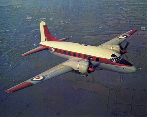 17 July 1949 - 1949: On 17 July 1949, the Vickers Type 668 Varsity VX828 was first flown from Wisley. The Varsity was operated as a twin-engined crew trainer by the RAF for 25 years from 1951. The Varsity powerplant comprised 2 × Bristol Hercules 264 14-cylinder radial engines, 1,950 hp (1,455 kW) each. The Varsity was flown by 10 different RAF Squadrons and 15 Flying Training Schools.Credit: BAE Systems