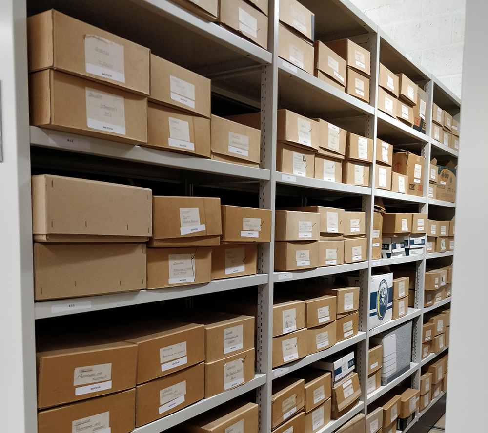 Just one section of archive shelving.