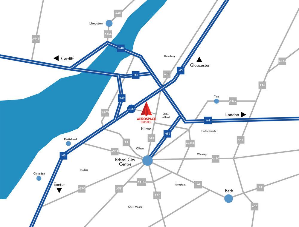 Map to Aerospace Bristol
