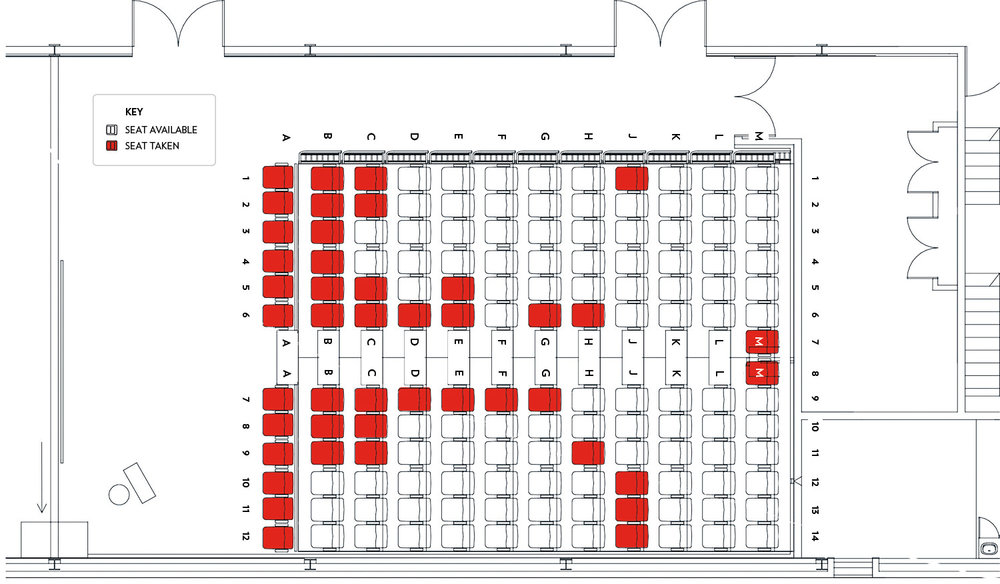 Do you have a specific seat in mind? Click to enlarge the image above, choose your preferred seat, then enter your first and second preference on the next page.