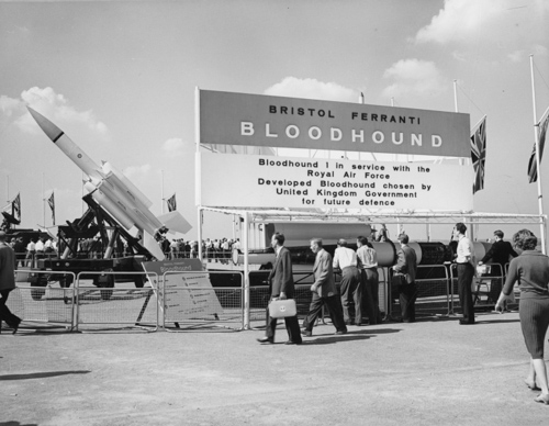 1 December 1959 - The Bristol Bloodhound Mk 1 surface-to-air missile was deployed to RAF Rattlesden where it was manned by 266 Sqn. It was the first British guided weapon to enter full operational service.Credit: BAE Systems