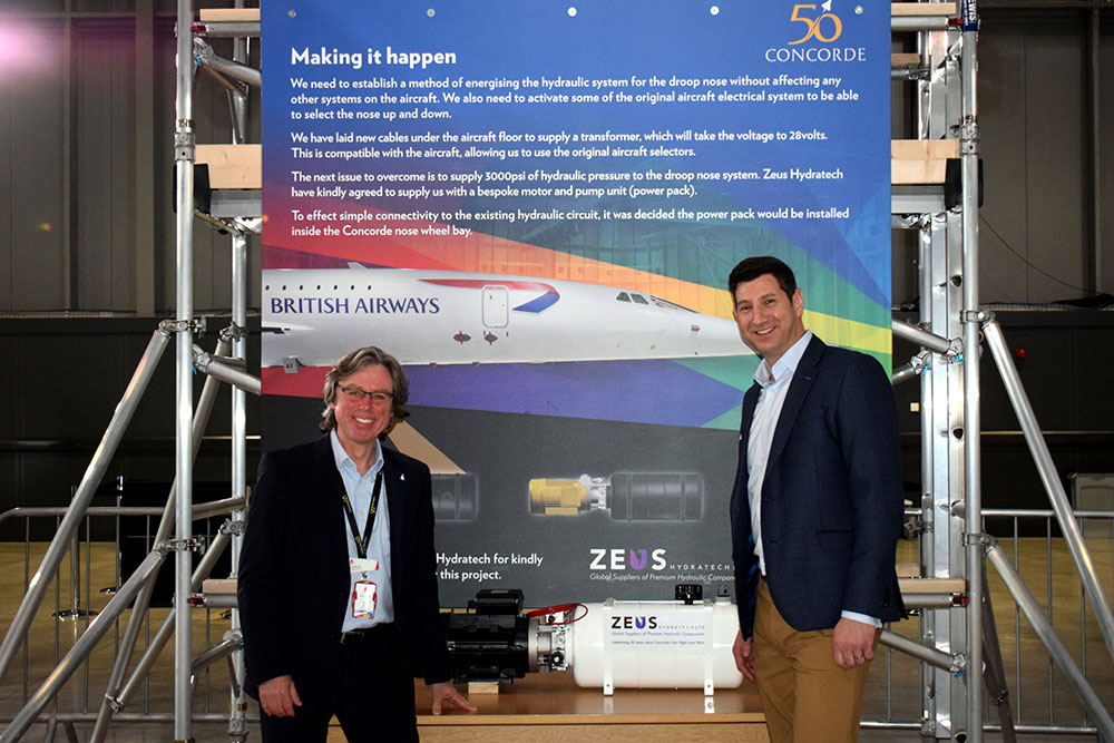 Lloyd Burnell, Executive Director, Aerospace Bristol and Oliver Starr, Managing Director, Zeus Hydratech