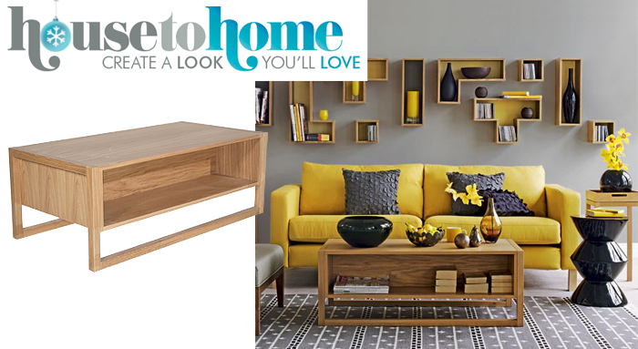 House To Home Trends   Yellow Living Rooms With The NewEst Coffee Table