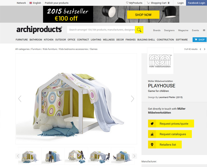 Leonhard Pfeifer Playhouse as featured on archiproducts