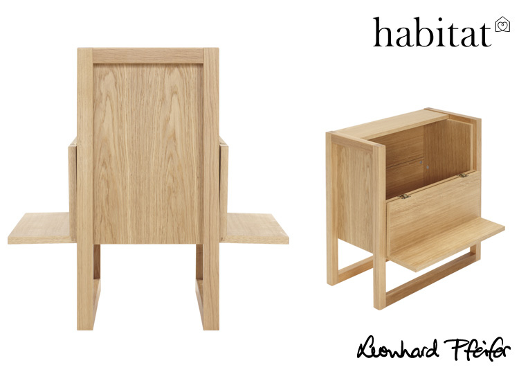 Perfect for Christmas entertaining, the MINI BAR is a great occasional piece, available from Habitat France in Oak