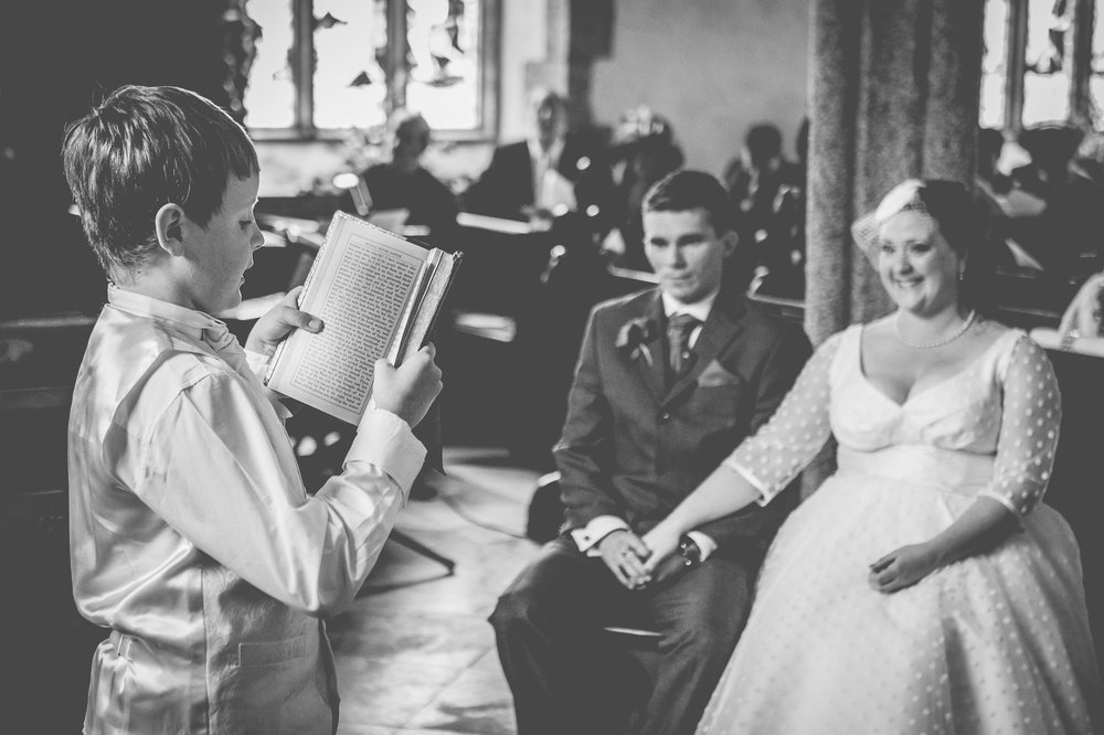 Reading for the bride and groom