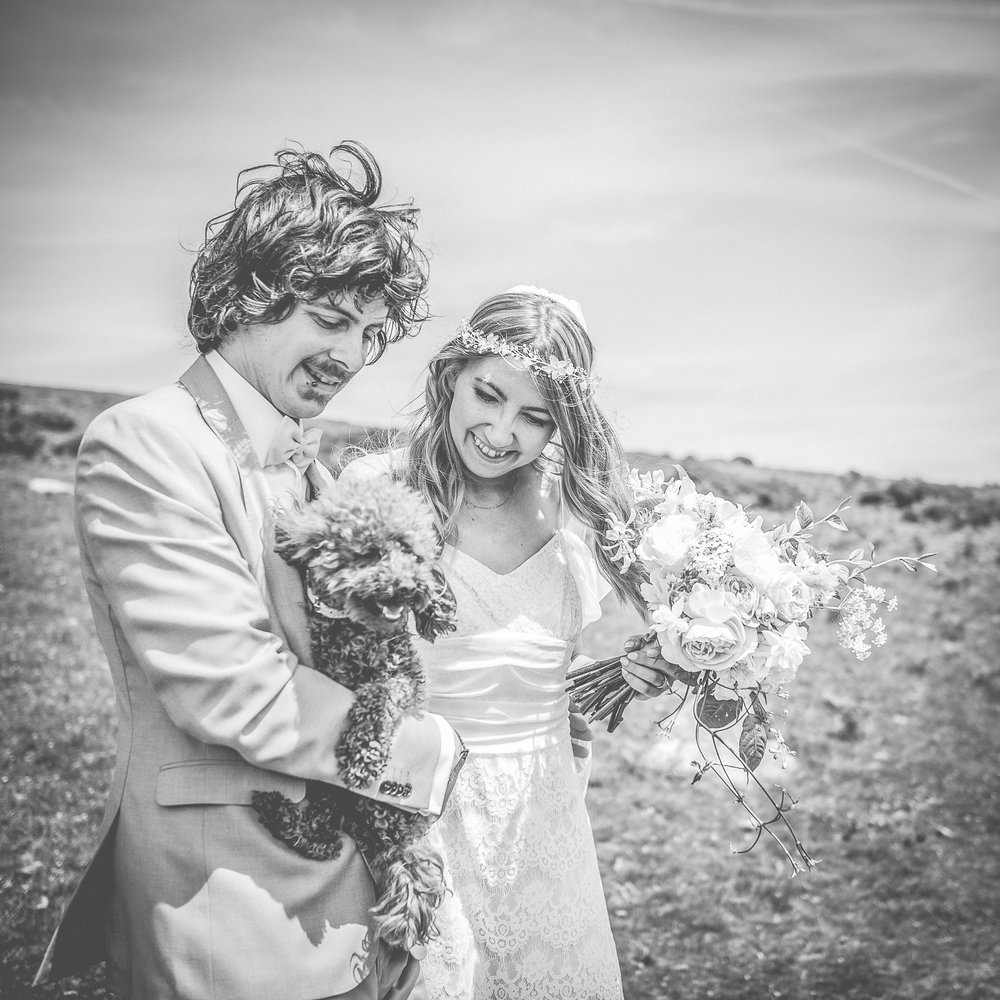 Bride and groom first look photoshoot on Dartmoor