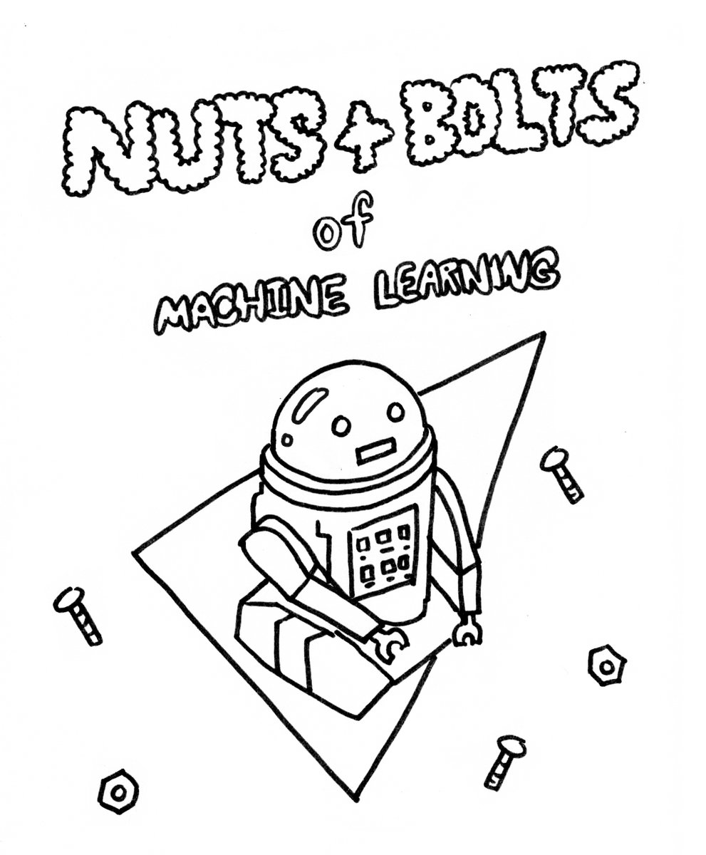 Image from BubbleSort's Twitter (@sailorhg) showcasing her upcoming zine on Machine Learning!