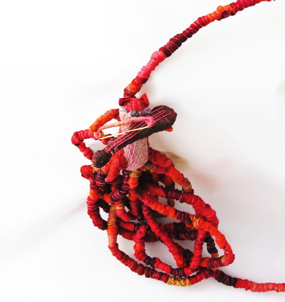 Life on a String – Francesca Cecchini (2014), necklace  (detail)