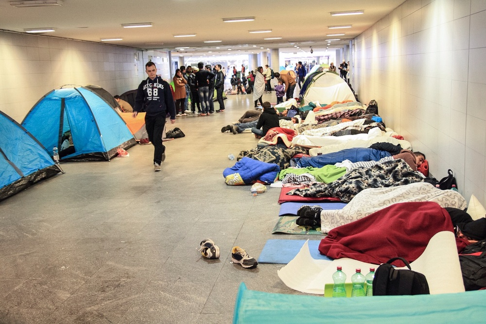 People have been camping out in Keleti station for days