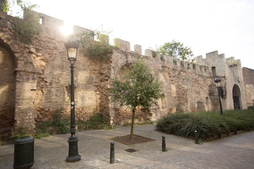 The old walls of the inner city.