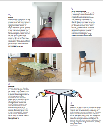 The December issue of Icon Magazine features the Mondrian table from Outdoorz designer Patrick Beyaert. Find out more about this unique side table  here . Icon is one the world's leading architecture and design magazines.