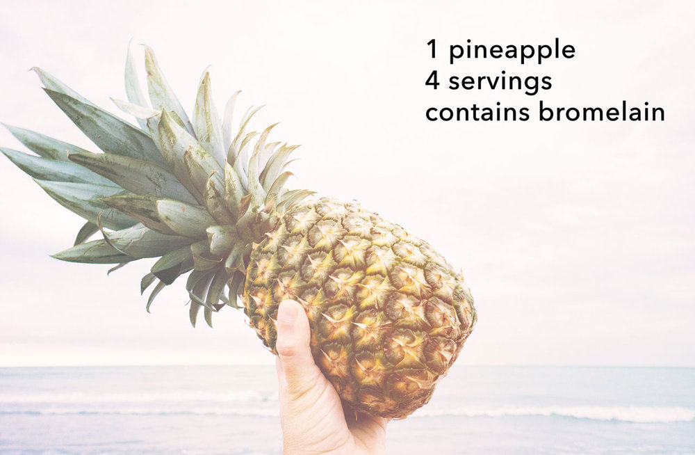 pineapple contains bromelain