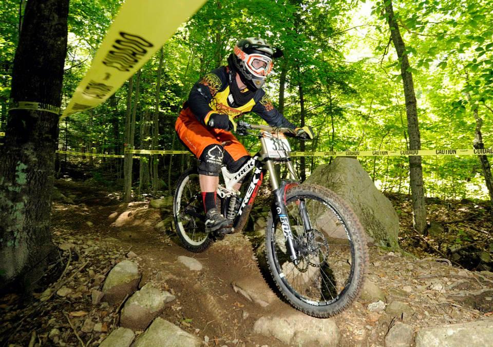 Conor Rowan racing on Attitash Mountain