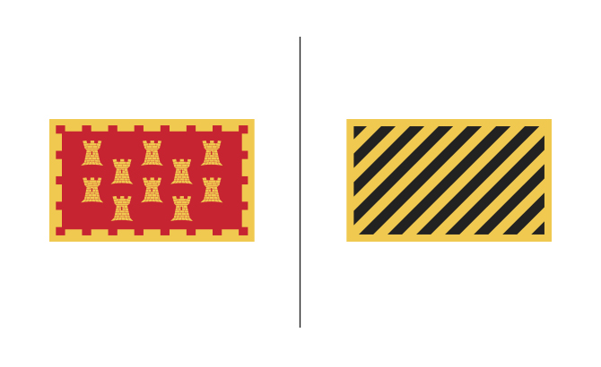 The old flag versus the proposed flag.