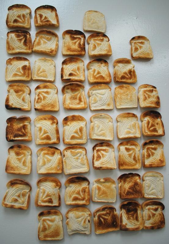 Toast Tiles, 2013  toast