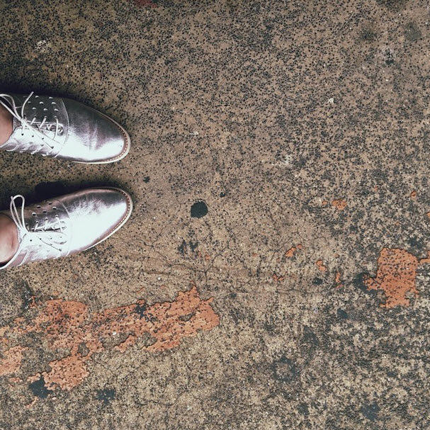 sarazucker :     i wish  johnston & murphy  still sold these silver lace-ups so that you could understand how glorious they are — definitely one of the most comfortable shoes i own (c/o).