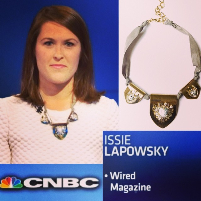 @issielapowsky looking AMAZE on @cnbc today in her #carolyncolby @wired #powerpitch