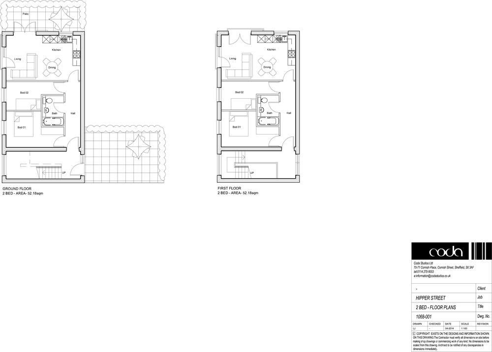 2 Bed Floor Plans