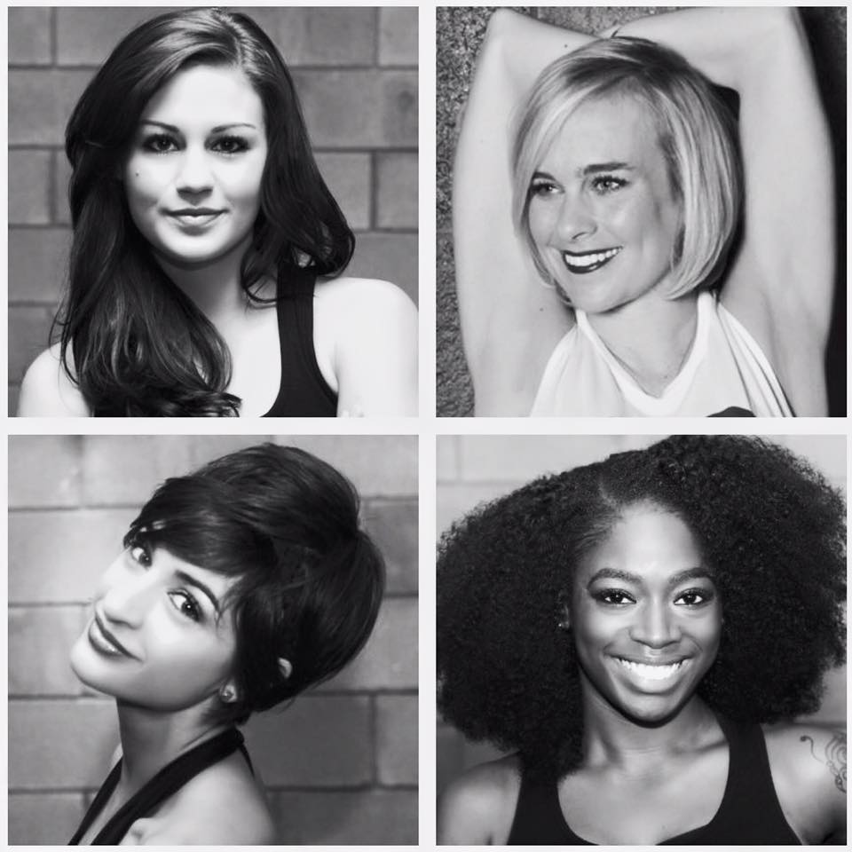 Clockwise:  Kelsey Dick ,  Idia Egonmwan ,  Yours Truly ,  Caroline Reed