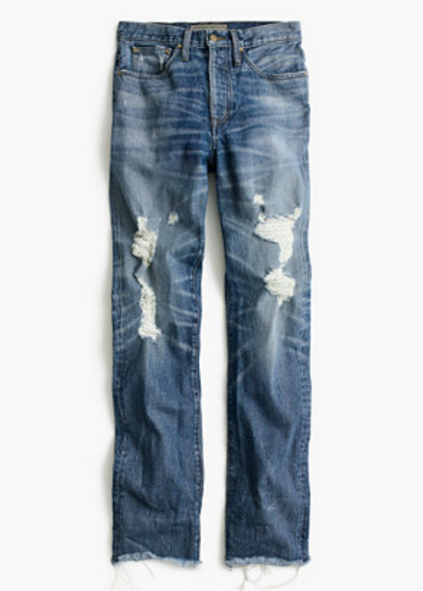 Pont Sur distressed denim