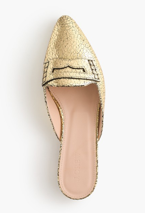 gold slider-loafer