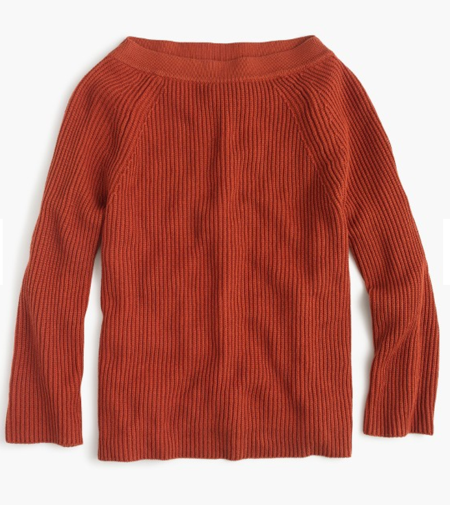 relaxed boat neck sweater
