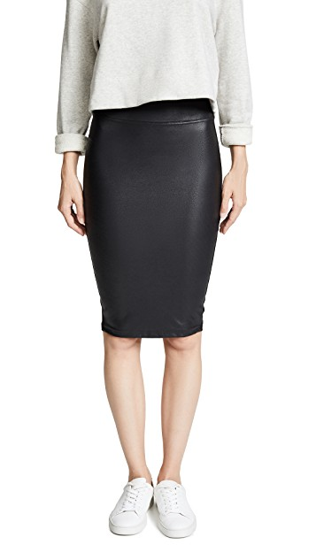 SPANX FAUX LEATHER PENCIL SKIRT $118