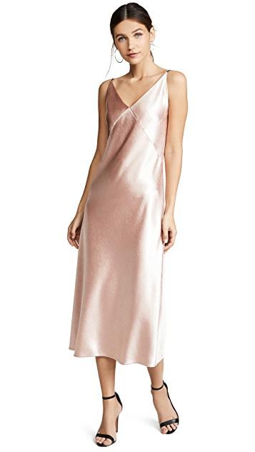 VINCE V-NECK BIAS DRESS $295