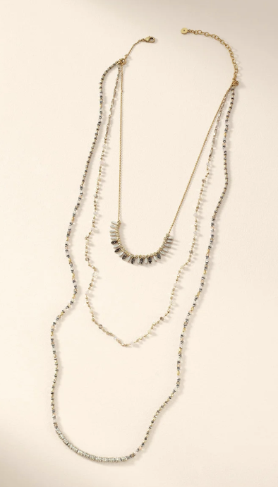 MIXED METAL LAYERING NECKLACE $79