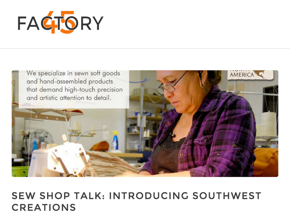Factory45 Features Southwest Creations in Sew Shop Talk