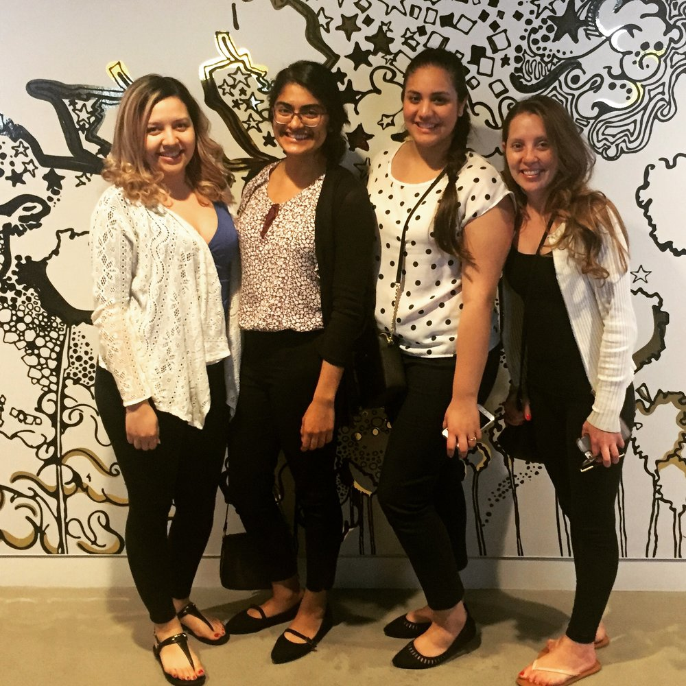 Pictured left to right:  Lizeth Muñoz ,  Nancy Cabrera ,  Karen Perez  and  Sasha Pellerin .