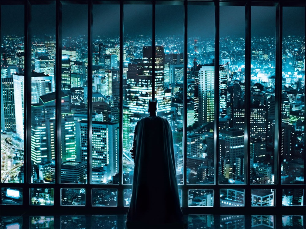 Batman watching over the city