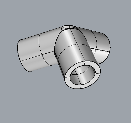 Rhino model of dodecahedron vertex connector