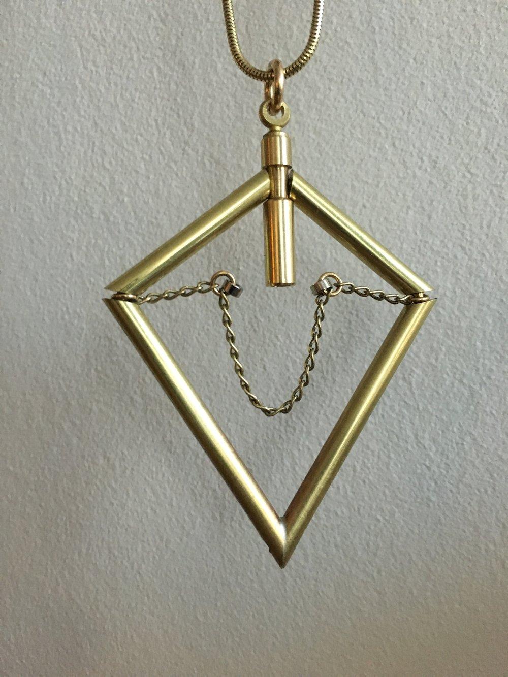 diamond floating chain pendant