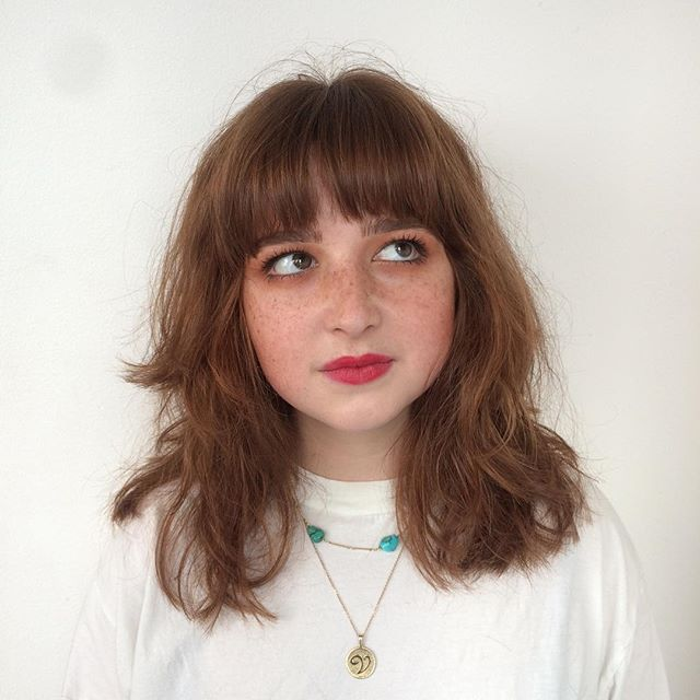 Victoria cut by Laura #fringe #bangs #nofilter #redlips #brownhair #longhair #hair #vivasoho #soho #london