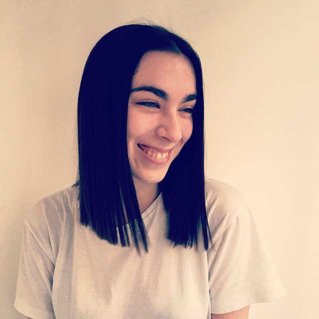 Jessie Cut & Finish by Paula #vivasoho #soho #longhair #darkhair #bluntcut #smile #london #ravenhair
