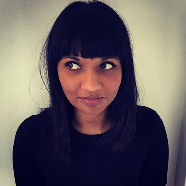 Samanti cut by Laura #heavyfringe #bangs #presenter #london #soho #vivasoho #darkhair #hair