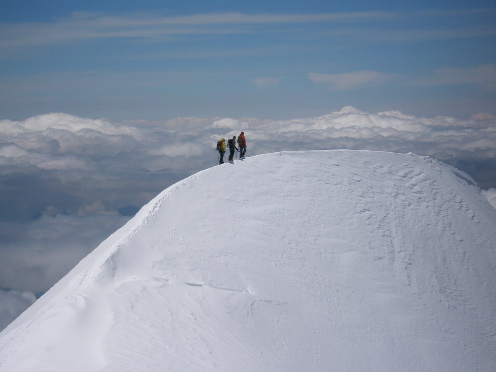 On the Bosses Ridge of Mont Blanc, France