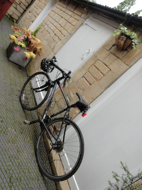 Our outdoor utility room (door at rear wheel) has a padlock, and can store several bicycles.