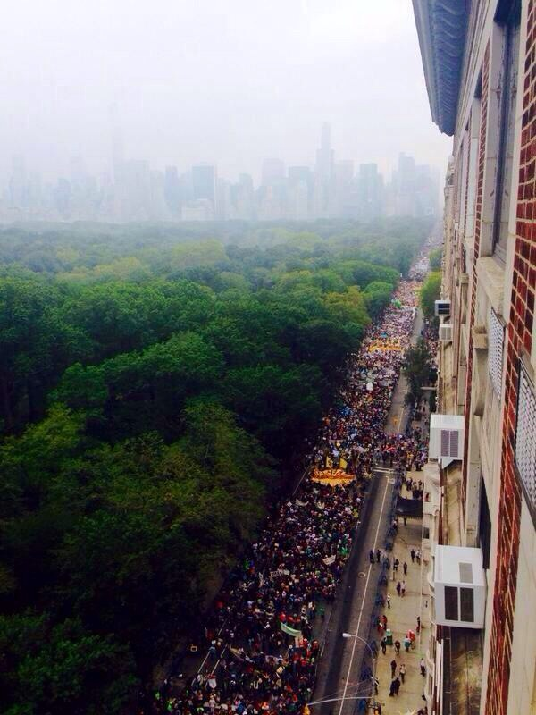 Central Park West march line-up via peoplesclimate.org
