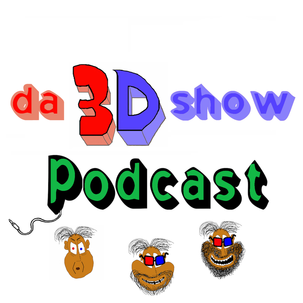 I made this new Da 3D Show Podcast art!