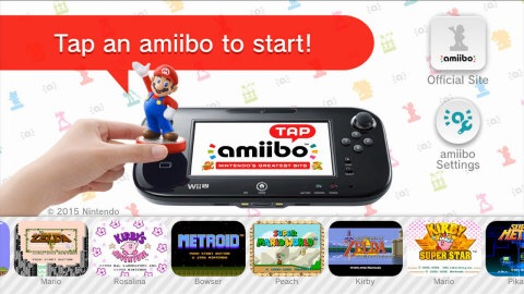 Download the free amiibo tap: Nintendo's Greatest Bits application in the Nintendo eShop on Wii U and tap any amiibo figure to the Wii U GamePad controller to unlock scenes from select NES and Super NES Wii U Virtual Console games.