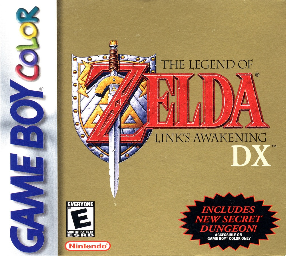The Legend of Zelda Links awakening DX had a exclusive dungeon for game boy color console