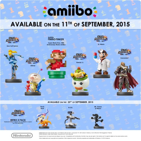 This September Nintendo is launching a variety of amiibo figures, including many fan-favorite characters from the Super Smash Bros. series on the 11th of September . (Photo: Business Wire)