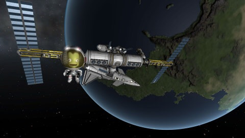 A physics-based space flight simulator, Kerbal Space Program allows players to manage their own space program by building and flying spacecraft. (Photo: Business Wire)