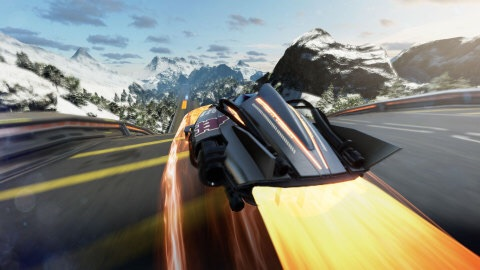 "FAST Racing Neo earns the title ""Fast"" by throwing players into a futuristic racer with hyper-fast anti-gravity vehicles. Up to four players can race against each other in split-screen local multiplayer, with up to eight racers able to participate in online multiplayer. (Photo: Business Wire)"
